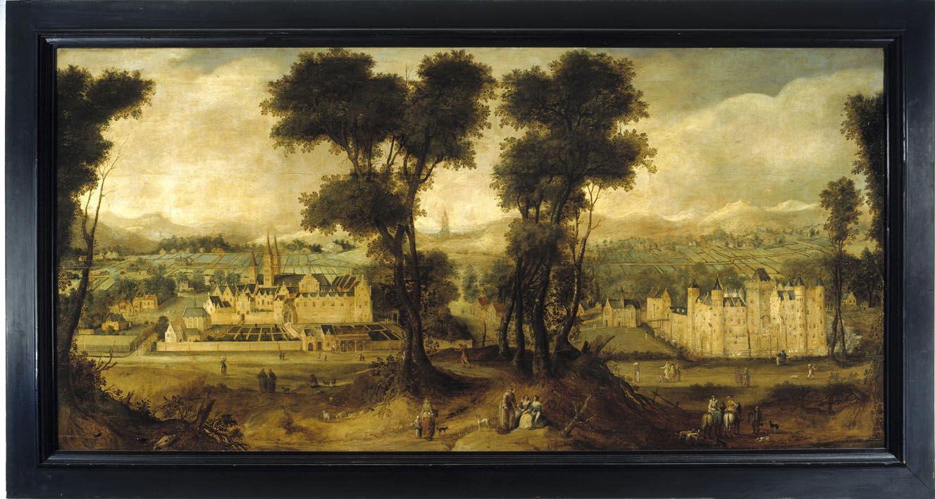 St adelbertabdij en kasteel egmond tuinhistorisch genootschap cascade - Bron schilderijen ...