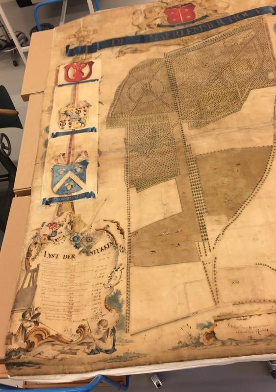 Kaart van de Haarlemmerhout door Jan van Varel, 1755/56.