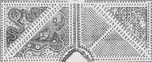 Uitsnede plattegrond Beeckestijn - J.G. Michael (1772)